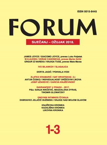 God. 57(2018), knj. 90, br. 1-3 (siječanj-ožujak) : Forum : mjesečnik Razreda za književnost Hrvatske akademije znanosti i umjetnosti.