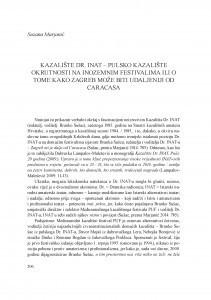 Kazalište Dr. Inat - pulsko kazalište okrutnosti na inozemnim festivalima ili o tome kako Zagreb može biti udaljeniji od Caracasa / Suzana Marjanić