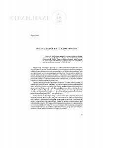 Organizacija kao teorijski problem / Eugen Pusić