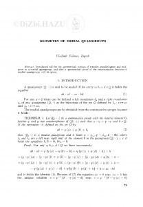 Geometry of medial quasigroups / V. Volenec
