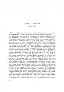 Sergije Dogan (1916-1979) : [nekrolozi] / N. Grčević
