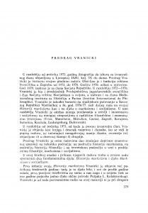 Predrag Vranicki : [biografije novih članova Akademije]
