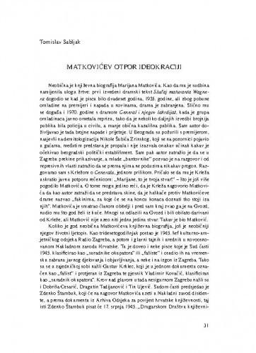 Matkovićev otpor ideokraciji / Tomislav Sabljak
