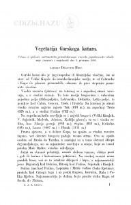Vegetacija Gorskoga kotara / D. Hirc
