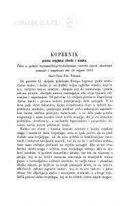 Kopernik prema svojemu životu i nauku / J. Torbar