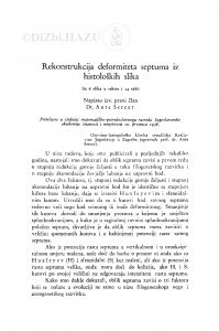 Rekonstrukcija deformiteta septuma iz histoloških slika / A. Šercer