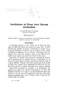 Contributiones ad Floram terrae Slavorum meridionalium : Fasciculus II. / M. Gandoger