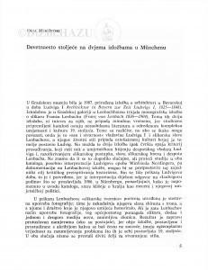 Devetnaesto stoljeće na dvjema izložbama u Münchenu / Olga Maruševski