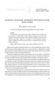 Kliničko značenje moderne histopatologije raka dojke / Elvira Mustać, Nives Jonjić
