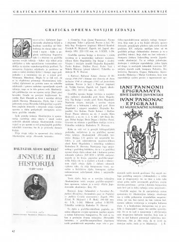 Grafička oprema novijih izdanja / J. B.