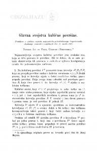 Glavna svojstva kubične površine / J. de Vries