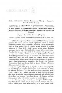 Ispitivanja o slobodnim i parazitskim Amebama : <5.> Novi prilozi za poznavanje obične i mladalačke deobe i drugih stupnjeva iz kruga razvića u Amoeba Gjorgjevići (Ivanić) / M. Ivanić