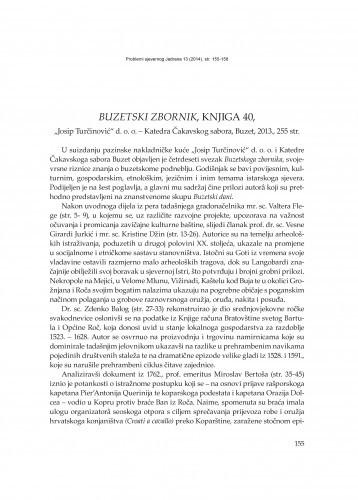 Buzetski zbornik, knjiga 40,