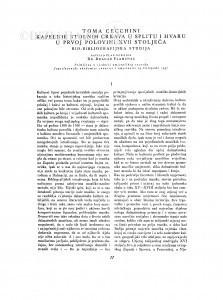 Toma Cecchini, kapelnik stolnih crkava u Splitu i Hvaru u prvoj polovini XVII stoljeća : bio-bibliografijska studija / D. Plamenac