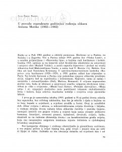 U povodu osamdesete godišnjice rođenja slikara Antuna Motike (1902-1982) / Ivan Šimat Banov