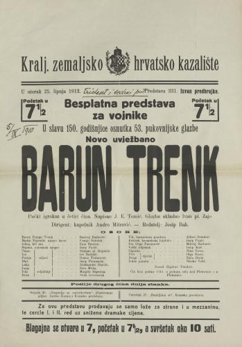 Barun Trenk : Pučki igrokaz u četiri čina