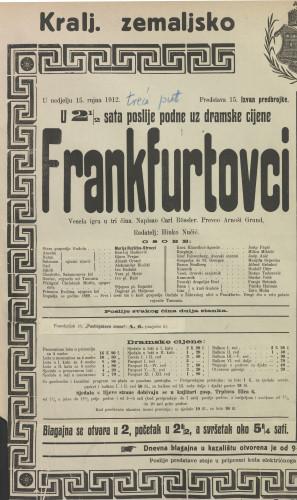Frankfurtovci Vesela igra u tri čina
