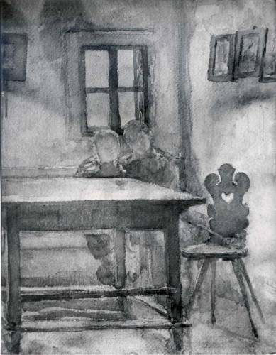 Djeca u seljačkoj sobi