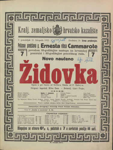 Židovka Opera u pet činova