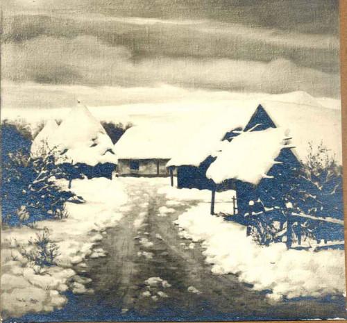 Rojc, Nasta (1883-1964) : Selo u snijegu