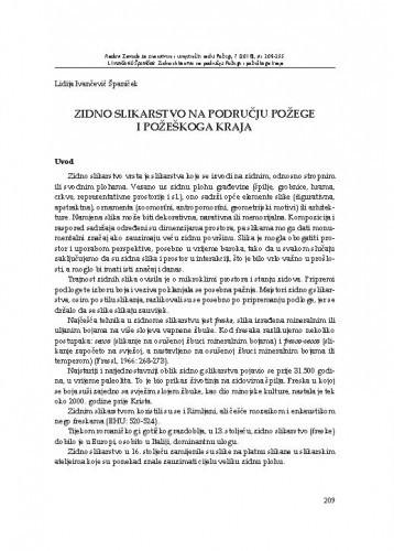 Zidno slikarstvo na području Požege i požeškoga kraja / Lidija Ivančević Španiček