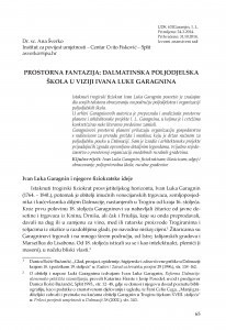 Prostorna fantazija : dalmatinska poljodjelska škola u viziji Ivana Luke Garagnina / Ana Šverko