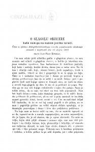 O glagolu objicere : kako nam ga na našem jeziku izreći / F. Kurelac