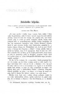 Ihtiološke bilješke / M. Medić