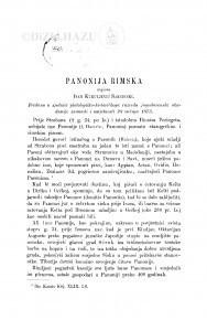 Panonija rimska / I. Kukuljević-Sakcinski