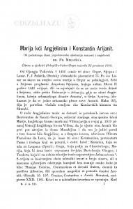 Marija kći Angjelinina i Konstantin Arijanit / F. Miklošić