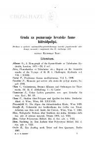 Građa za poznavanje hrvatske faune hidroidpolipâ / K. Babić