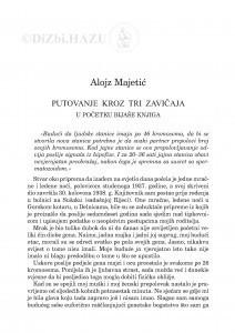 Putovanje kroz tri zavičaja : u početku bijaše knjiga / Alojz Majetić