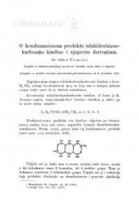 O kondenzacionom produktu toluhidrohinonkarbonske kiseline i njegovim derivatima / G. Flumiani