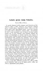 Latinske pjesme Junija Palmotića / Milivoj Šrepel