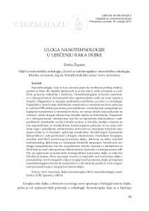 Uloga nanotehnologije u liječenju raka dojke / Darko Županc
