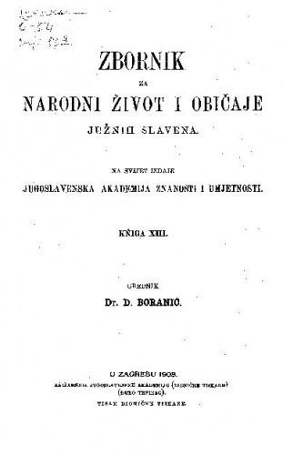 Knj. 13. (1908) / urednik D. Boranić