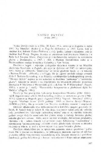 Natko Devčić : (1914.-1997.) / Nikša Gligo