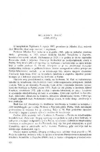 Mladen Paić : (1905.-1997.) / Ksenofont Ilakovac