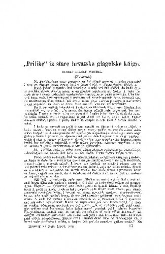 """<""""> Prilike"""" iz stare hrvatske glagolske kńige / R. Strohal"""