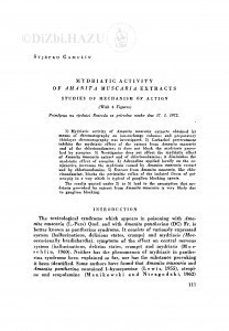 Mydriatic activity of Amanita muscaria extracts : studies of mechanism of action / S. Gamulin