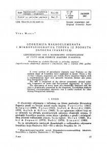 Geokemija makroelemenata i mikrofiziologija tufova iz Podruta (istočna Ivanščica) / V. Marci