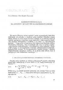 Korespondencija klasične i kvantne elektrodinamike / I. Supek i I. Babić-Gjalski