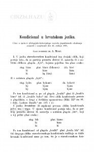 Kondicional u hrvatskom jeziku / A. Musić
