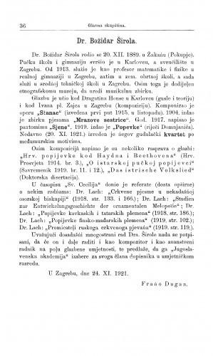 Dr. Božidar Širola / F. Dugan