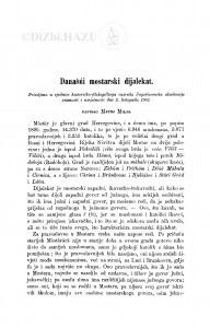 Današńi mostarski dijalekat / M. Milas
