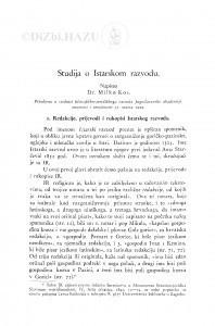 Studija o Istarskom razvodu / M. Kos