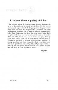 K zadńem članku u predńoj kńizi Rada / M. Valjavec