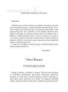 Čitateljski zapisi / Viktor Žmegač
