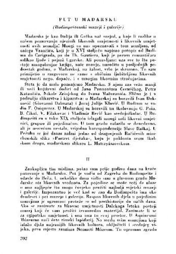 Put u Mađarsku : (Budimpeštanski muzeji i galerije) / Matko Peić