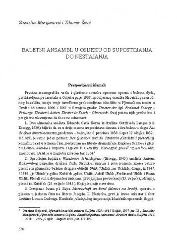 Baletni ansambl u Osijeku od supostojanja do nestajanja / Stanislav Marijanović i Tihomir Živić